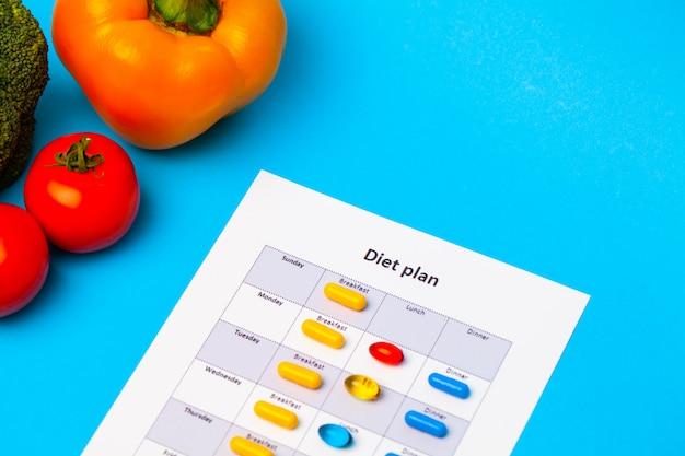 減量薬と新鮮な野菜のダイエット計画