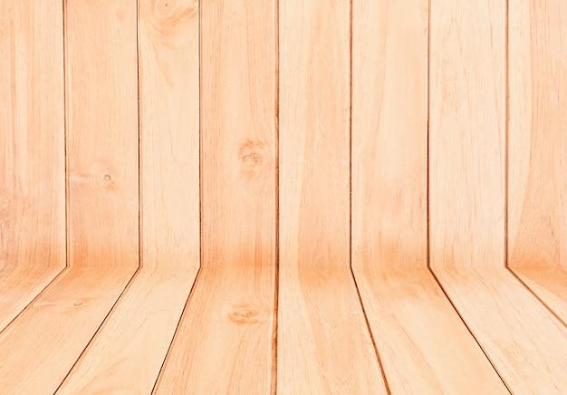 木製のテクスチャ、空の木製テーブルの背景。製品を表示またはモンタージュします。