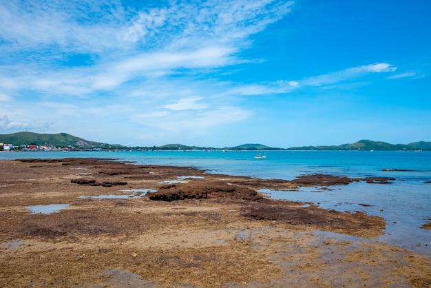 サッタヒープ、チョンブリの美しい海の景色。