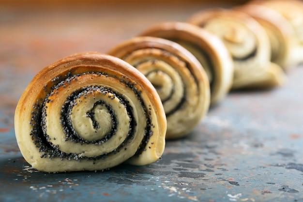Вкусные крученые запеченные булочки