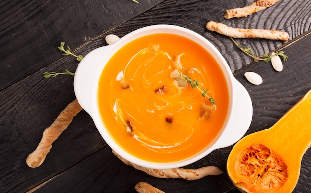 おいしいかぼちゃのスープピューレ