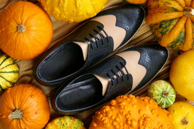 オックスフォードの靴とカボチャ