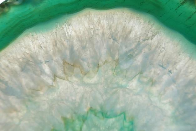 Зеленый агат ломтик минерал макро. зелень.