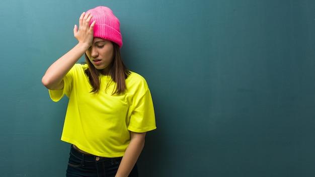 物思いにふける、現代の若い女性