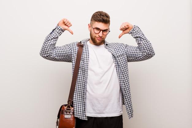 現代の若いビジネスマンは誇りと自信を持っていると感じています。
