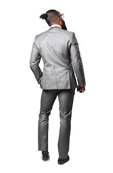 スーツの背中を持つ男