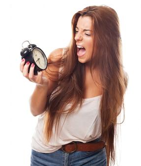若い女性モデルの叫び