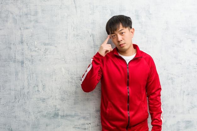 アイデアについて若いスポーツフィットネス中国思考
