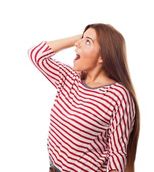 Волосы брюнетка рот возносить