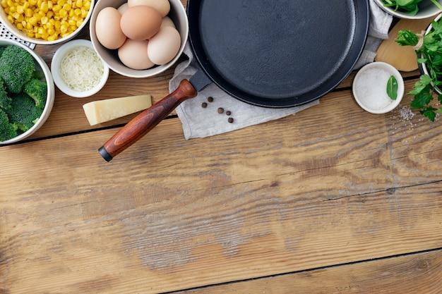 料理の食材を使った健康的な朝食