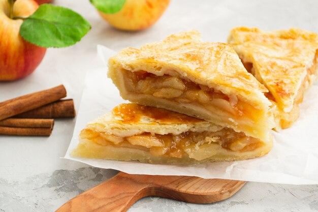 自家製のアップルパイ。