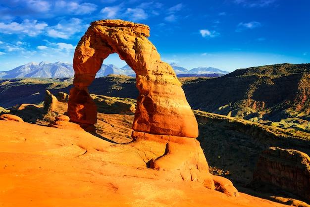 Деликатная арка, национальный парк арчес, юта