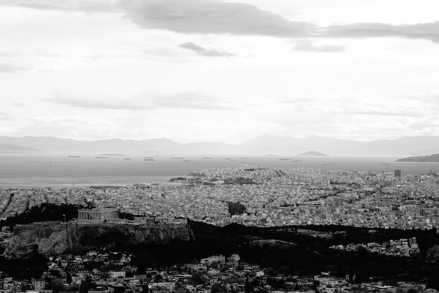 Вид с воздуха на город