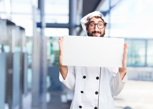 Сумасшедший повар счастливым выражением