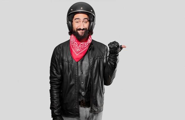バイクライダーポインティングサイン