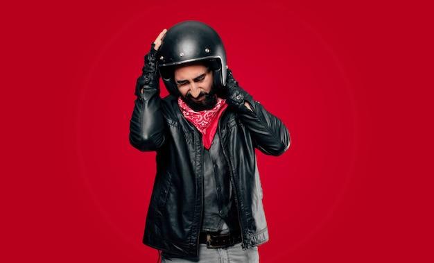 Жертва несчастного случая наездника мотоцикла