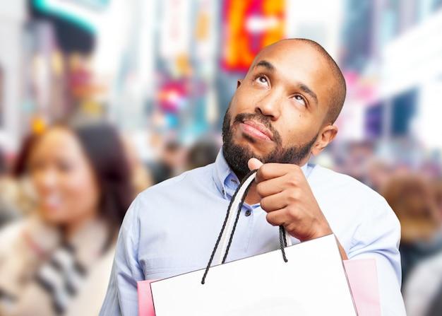 黒のビジネスマン悲しい表情