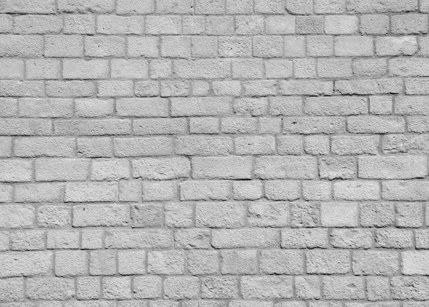 レンガ白い壁
