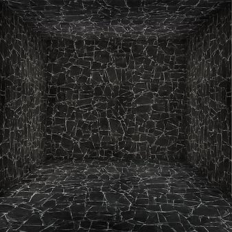 Пустая камера с текстурированной стен