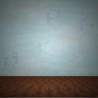 壁紙、寄木細工の床と壁