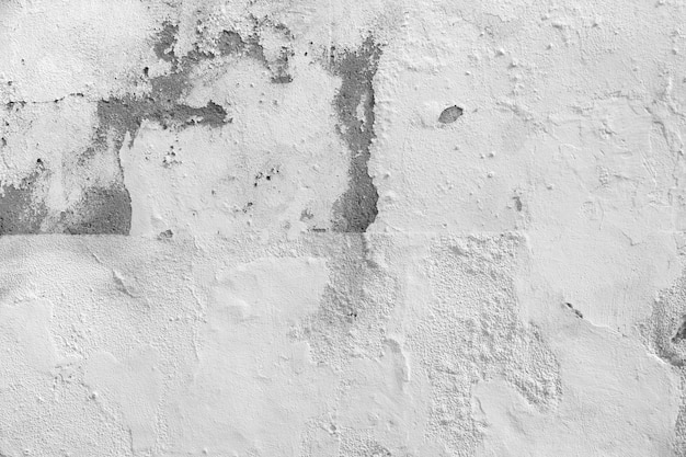 Ветхие белый бетонная стена