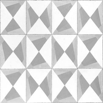 グレーと白の色のモザイクタイル