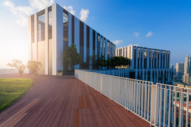 Здания с современной архитектурой