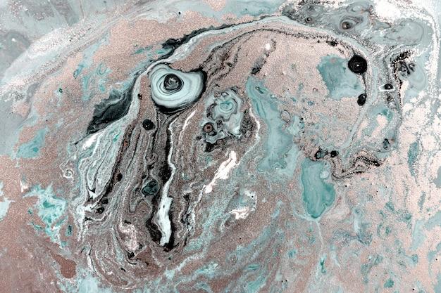 淡い霜降りの背景。シンプルな大理石の液体テクスチャ。