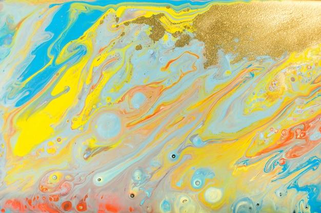 混合色の塗料の背景。多色バースト塗装。