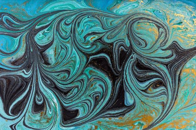 大理石の抽象的な背景。ブルーマーブリングアートワークのテクスチャです。