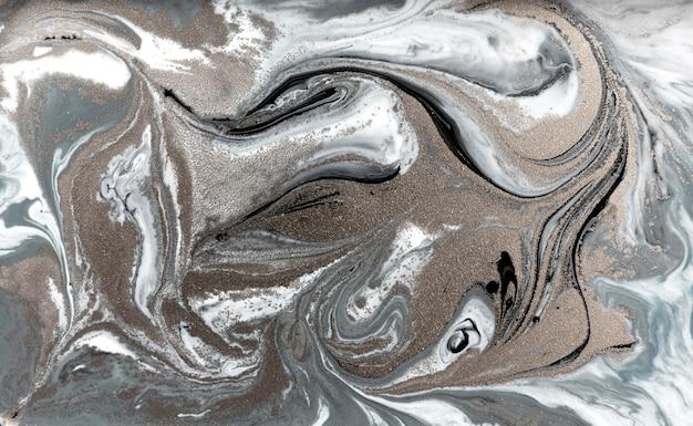 淡い霜降りパターン。シンプルな大理石の液体テクスチャ。