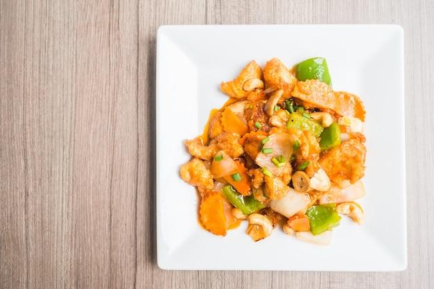 Куриное блюдо с овощами