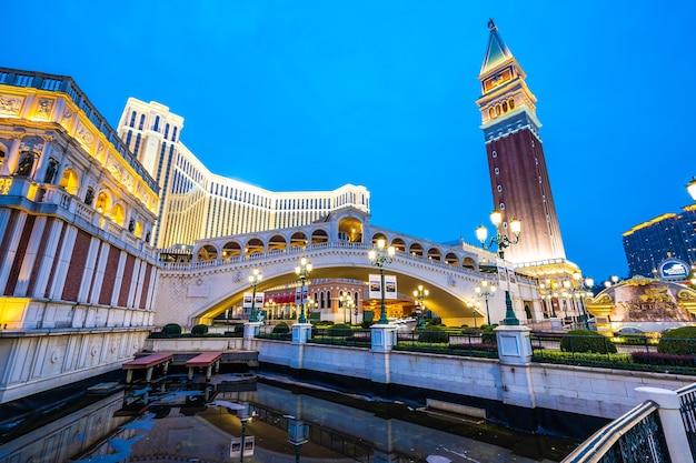 ベネチアと他のホテルリゾートとカジノの美しい建築の建物
