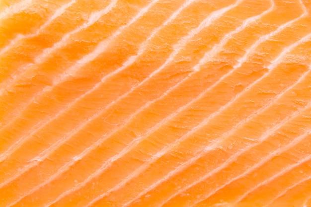 鮭の切り身のクローズアップ
