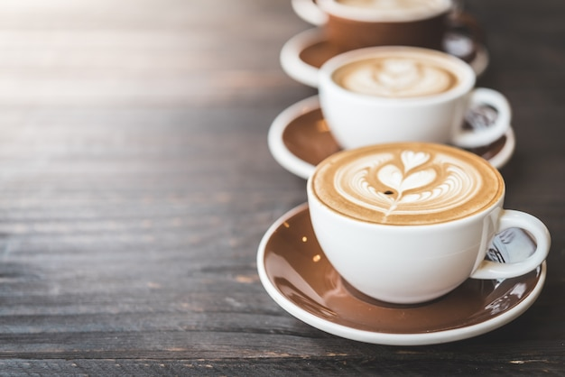 Чашка кофе латте