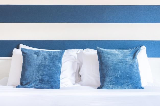 高級ホテルのベッドの枕