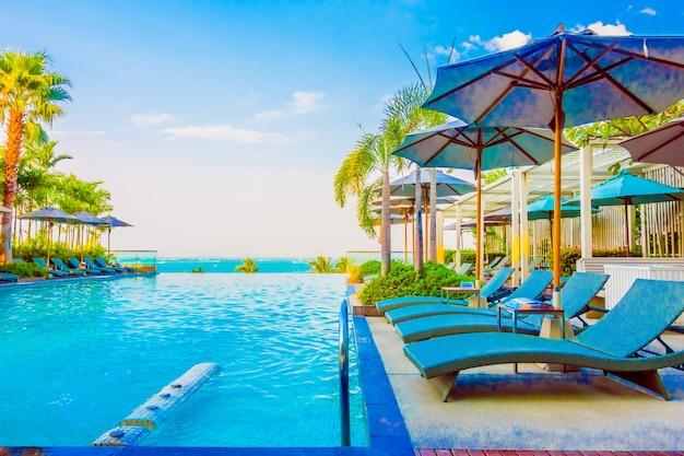 Путешествия небо роскошный пляж бассейн