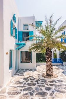 伝統的なヨーロッパサントリーニ島ギリシャの夏