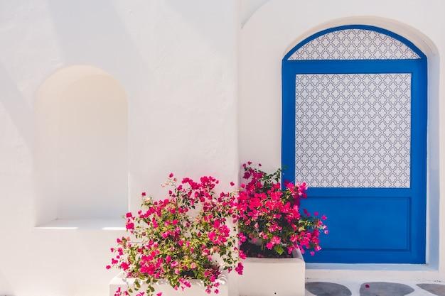 Дом синий лето эгейский греция