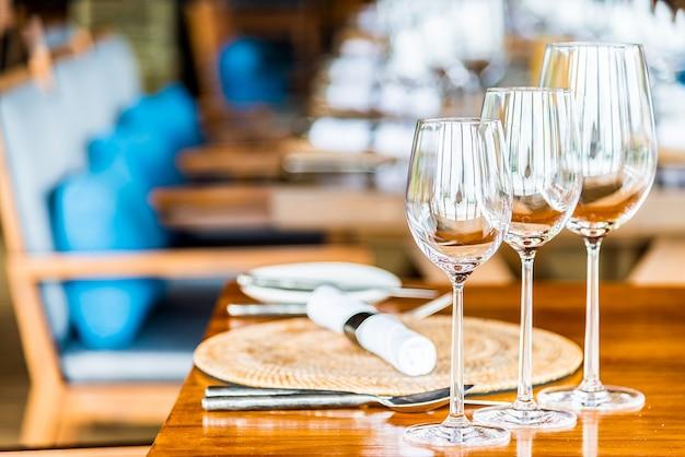 ワイングラスガラスディナーワインレストラン