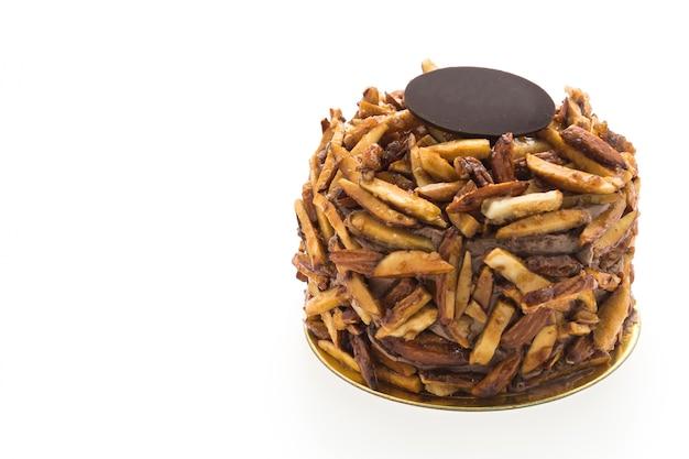 甘い背景ケーキスポンジを食べます