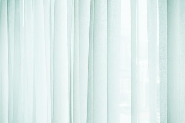 白いカーテンのクローズアップ
