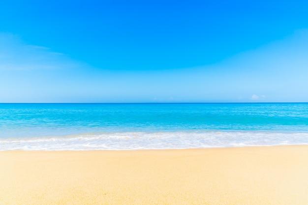 白い自然のビーチ熱帯の風景