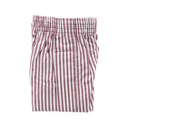 縞模様の織物ボクサー新しい布