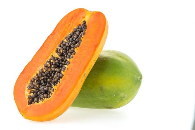 パパイヤの果物を分離