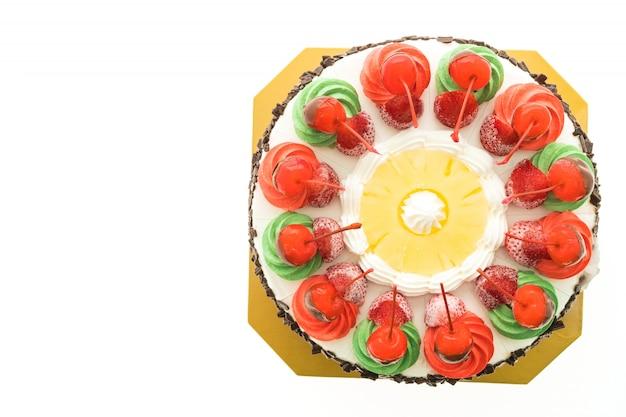 クリスマスのテーマと華やかさのあるアイスクリームケーキ