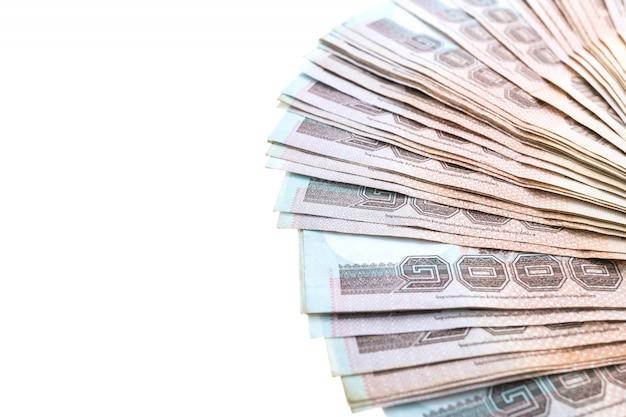 タイの銀行券と現金