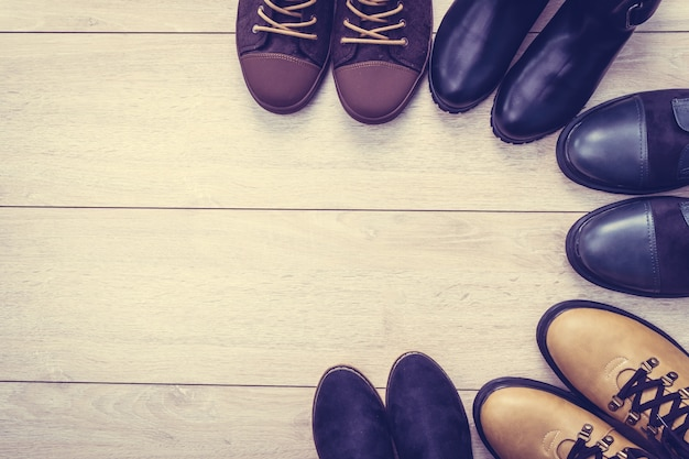 レザーブーツと靴