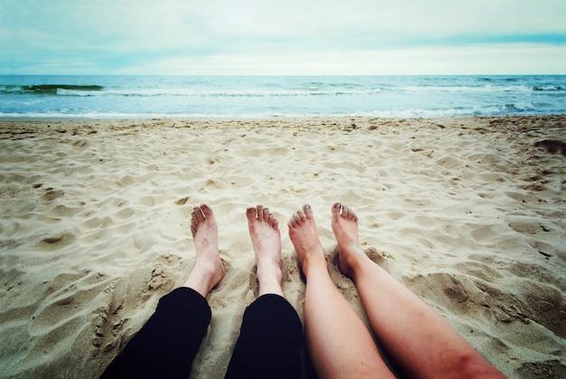 観光と海。