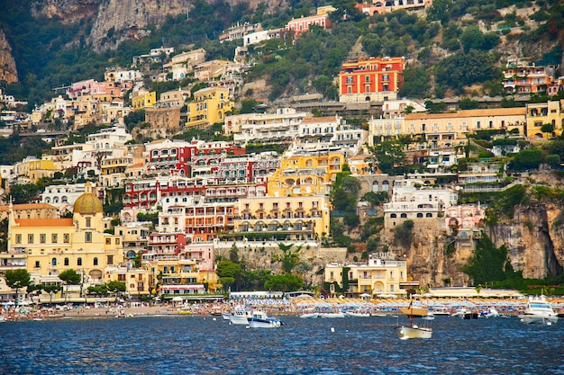 ポジターノ、アマルフィ海岸、カンパニア州、イタリア。美しい景色